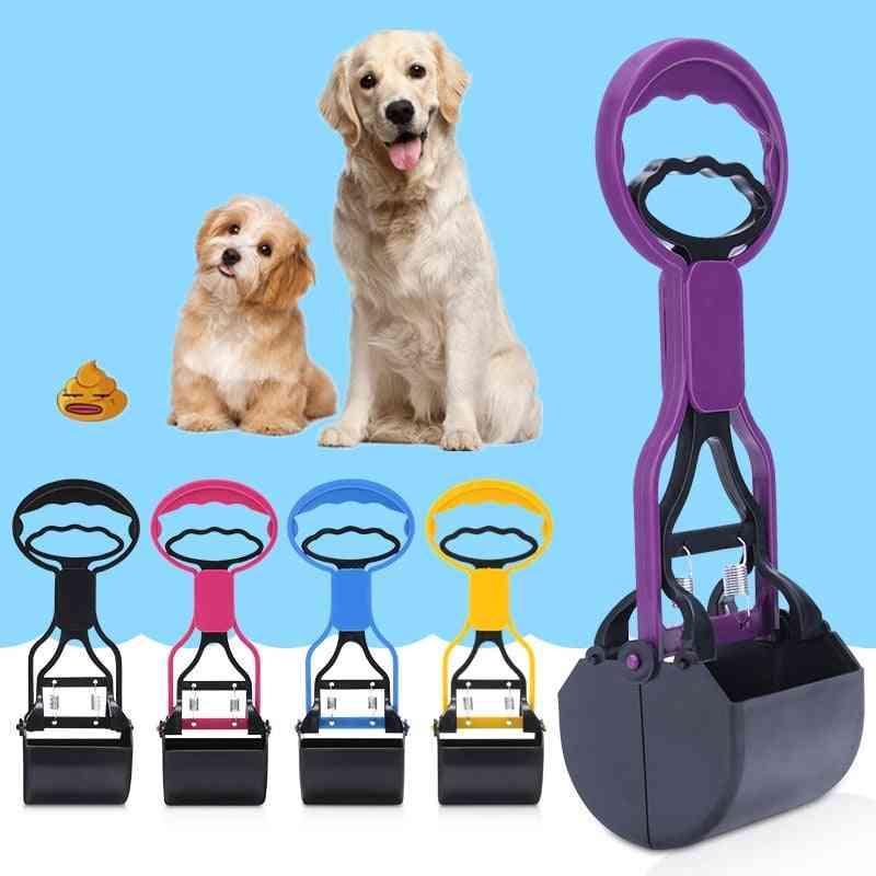 1pc Pet Pooper Scooper Long Handle Jaw Poop Scoop Clean Pick Up Animal Waste Dog Puppy Cat Waste Picker Outdoor Cleaning Tools