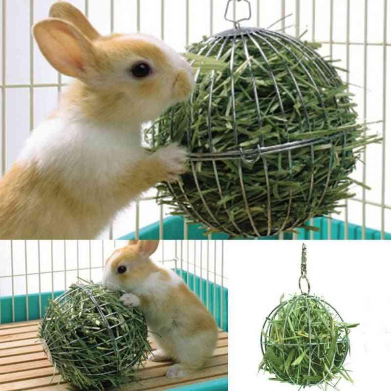 Hay Manger Food Ball Plating Grass Rack Ball For Rabbit Guinea Pig Pet