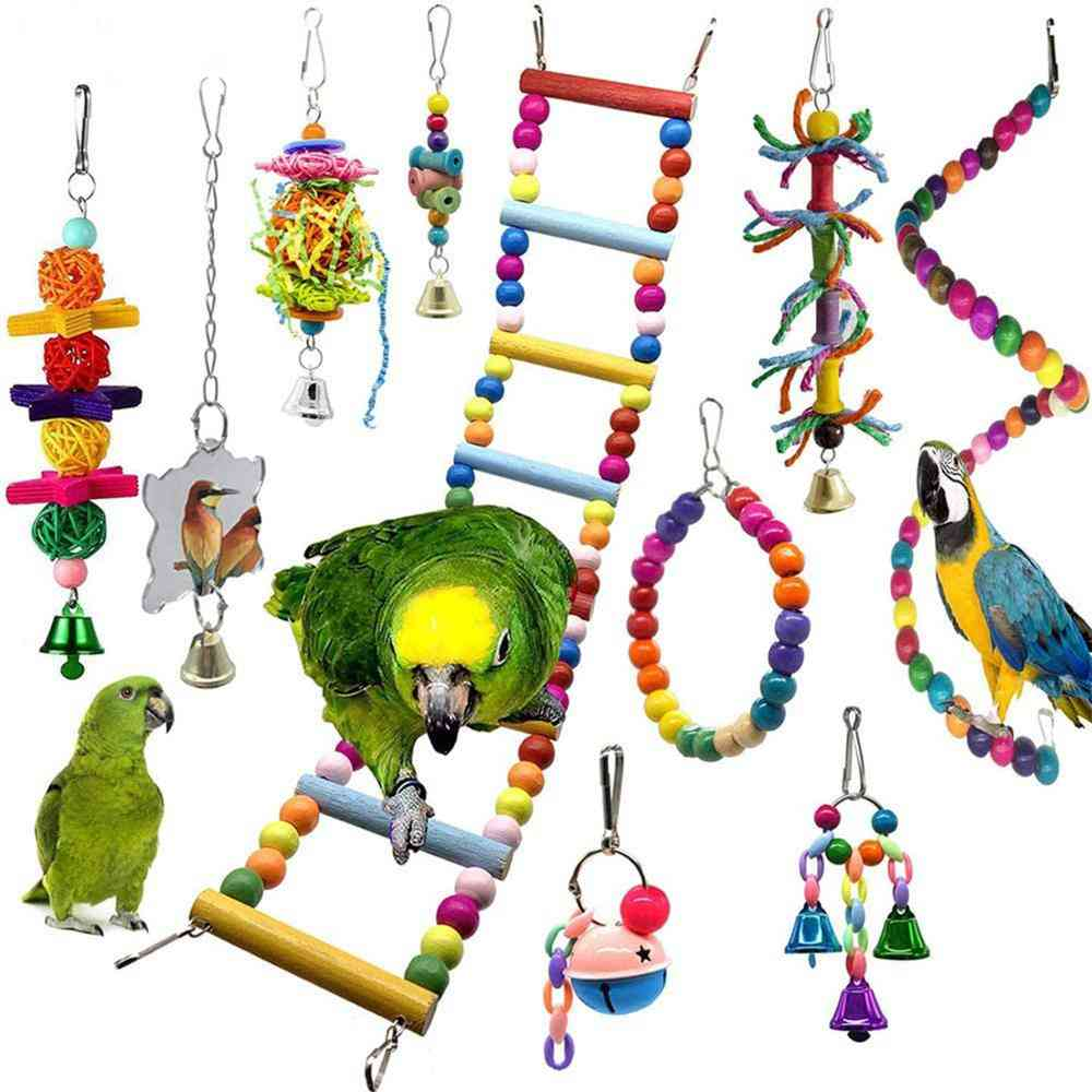 Parrot Chew Budgie Perch And Bird Swing Pet Accessories
