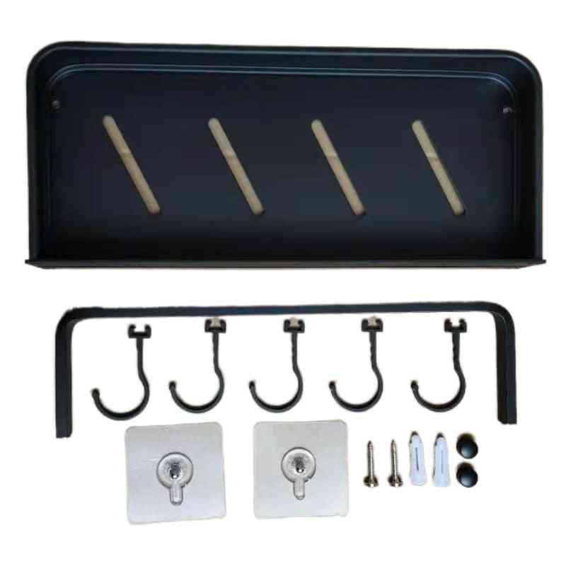 Aluminum Black Bathroom Corner Shelf