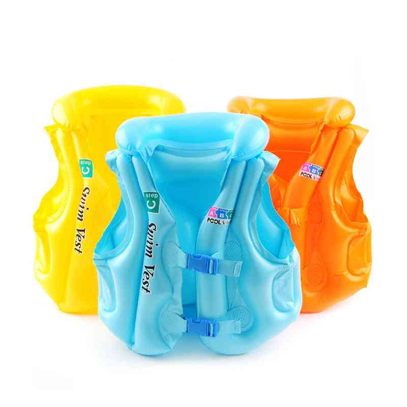 2021 Baby Life Jackets Kids Pvc Float Inflatable Swim Buoyancy Vest Life Vest Learning Swimming Ring Aid For Age 3-6 S