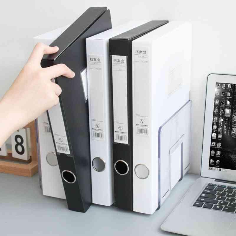 Solid Color Simple Folding Pp A4 Plastic File Box