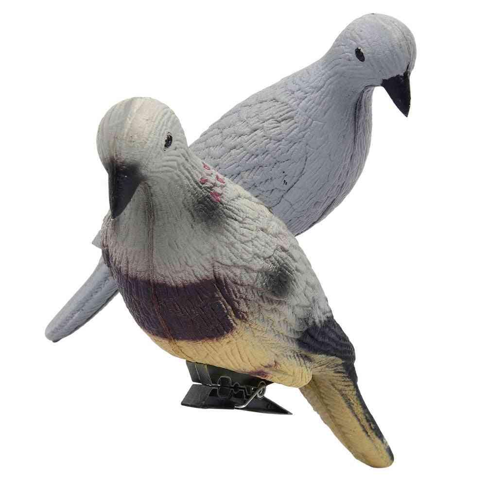 3d Pigeon Decoy Hunting Lifelike Foam Eva Grey Fake Bird Shooting Dove Decoy Practice Shooting Hunting Bait Supplies