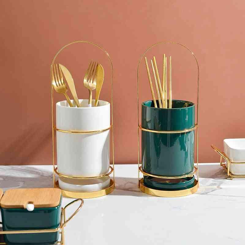 Light Luxury Ceramic Chopstick Holder
