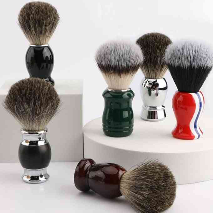 Pure Shaving Brush With Metal Handle