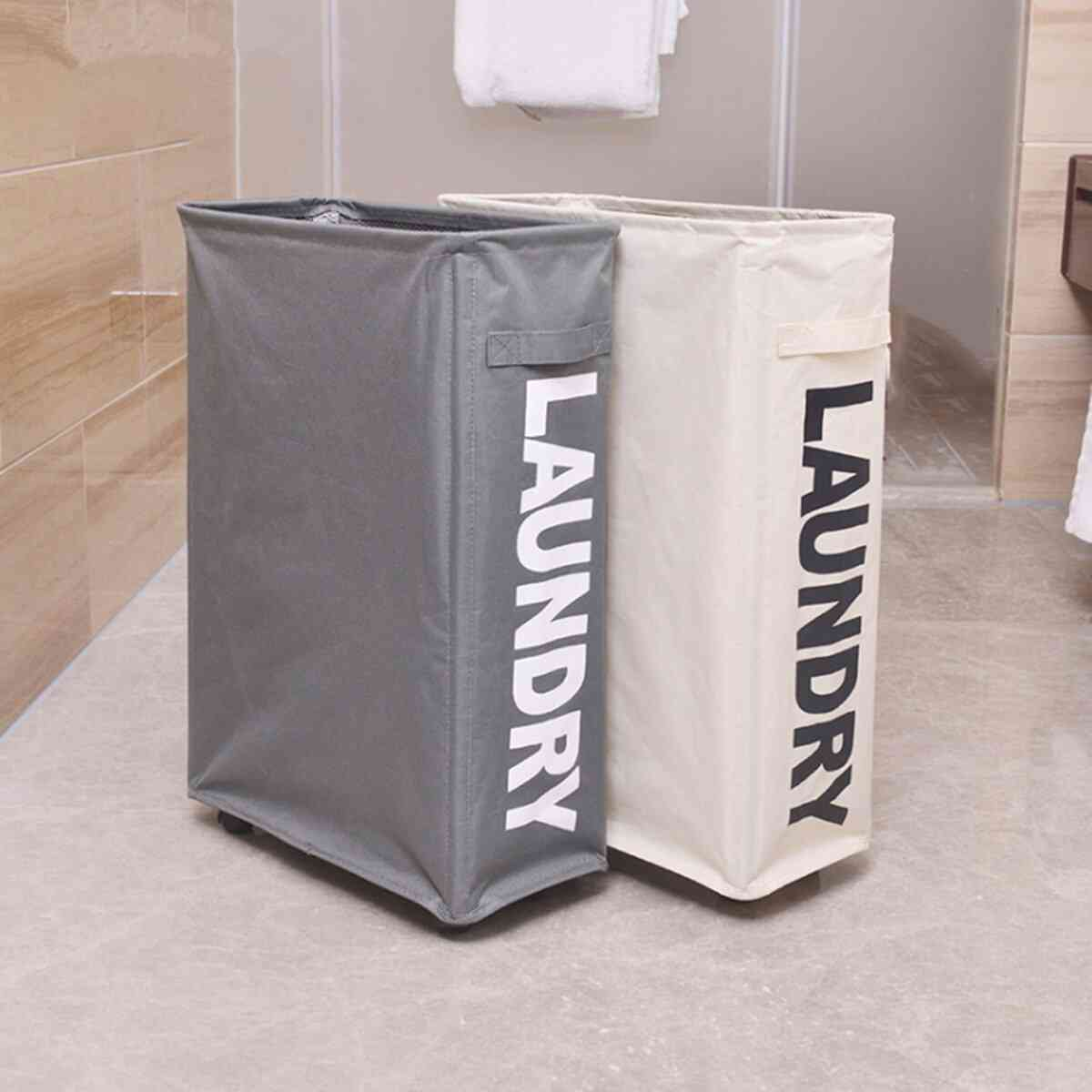 Foldable Dirty Laundry Basket With Caster Wheels