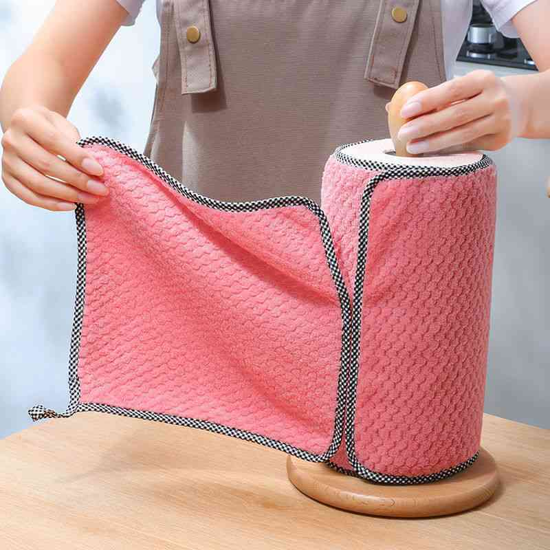 5pcs Household Kitchen Rags Gadgets Microfiber Towel Cleaning Cloth