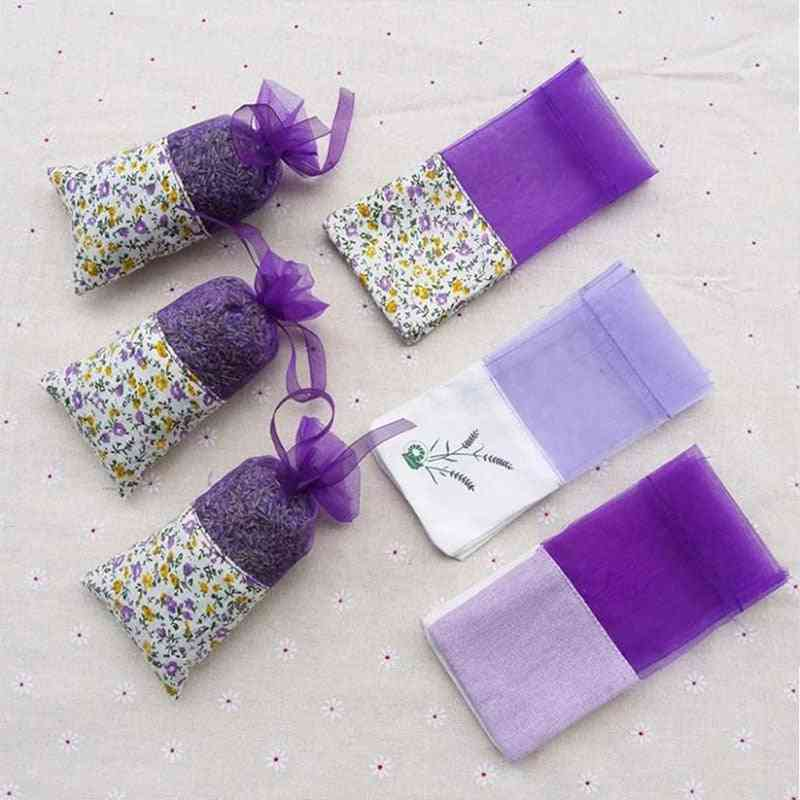 Fancy Floral Printing Lavender Empty Fragrance Pouch