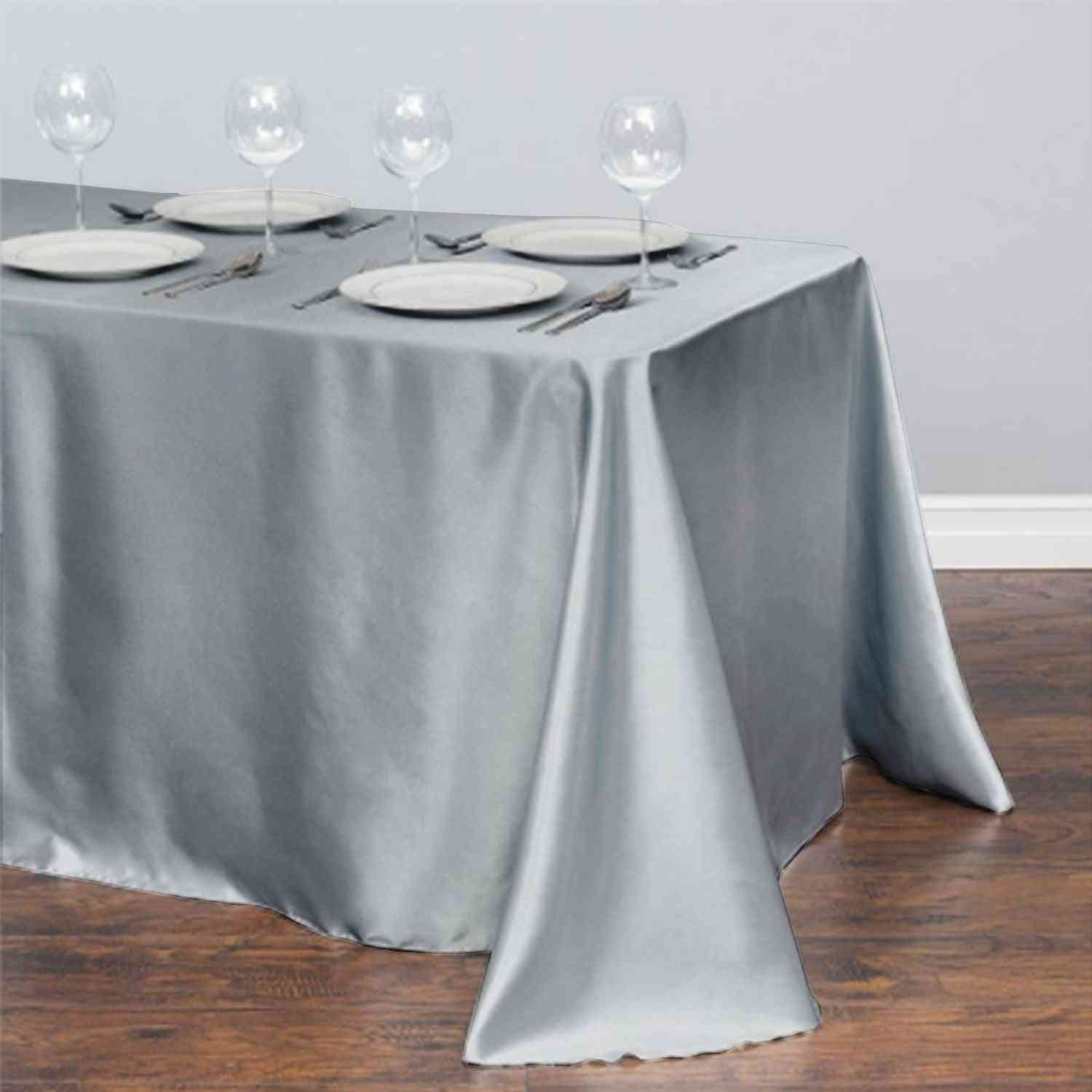 Rectangle Satin Tablecloth. Dining Table Cover