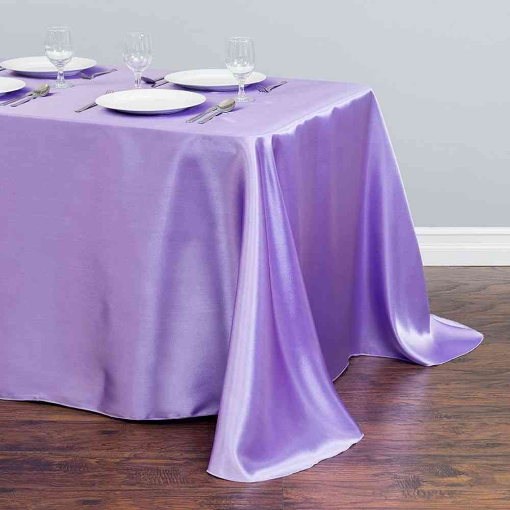 Rectangle Satin Tablecloth, Wedding Banquet Dining Table Cover