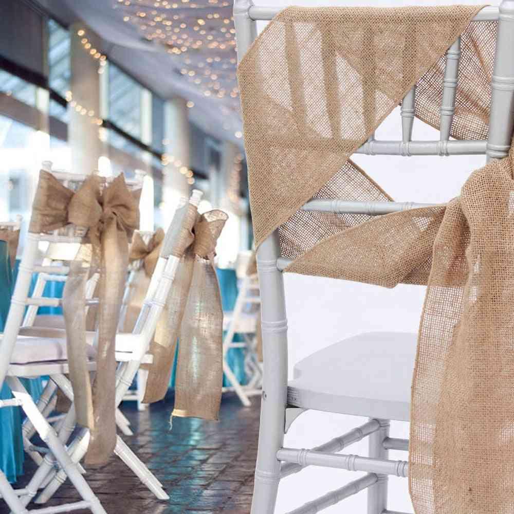 Naturally Burlap Chair. Wedding Decorations Chair