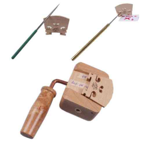 Violin Making Tools Bridge Knife Hold Violin Bridge Clamp String Slot Files