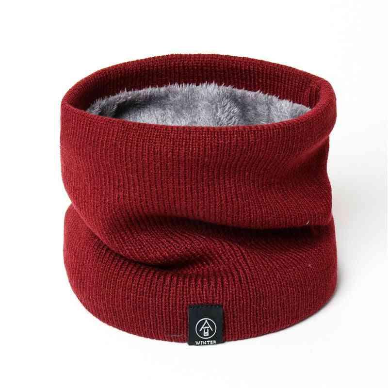 Women Men Solid Knitting Collar Thick