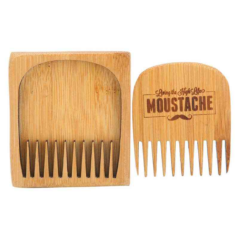 Male Grooming Aftershave Natural Bamboo Beard Comb