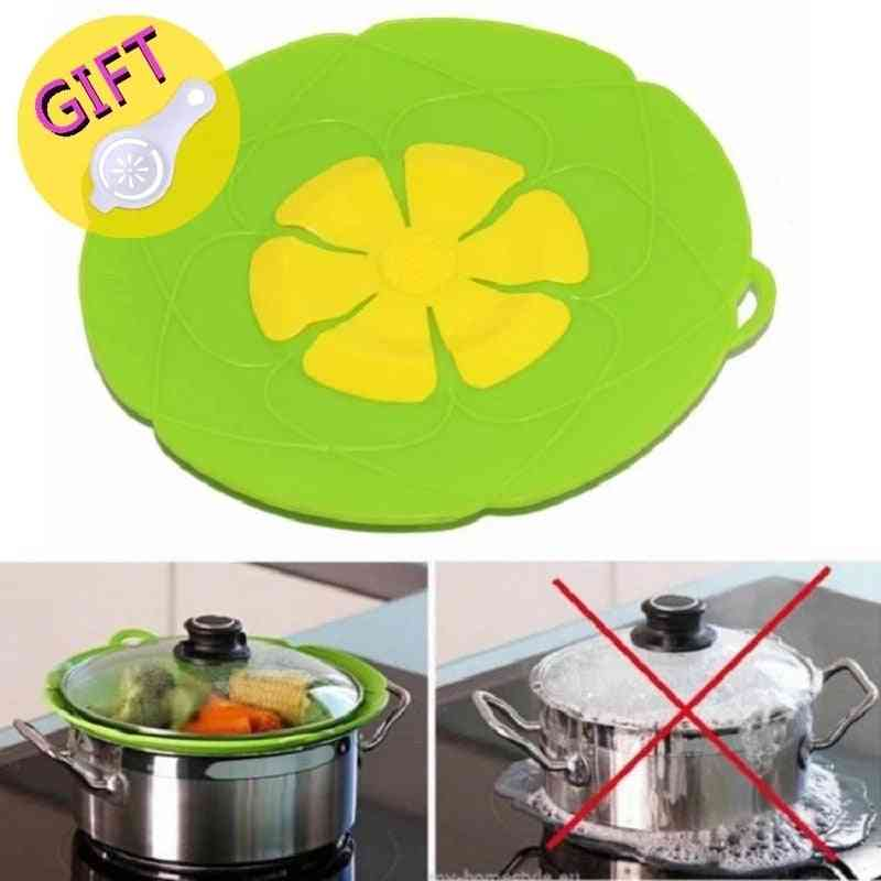 Silicone Lid Spill Stopper Cover For Pot