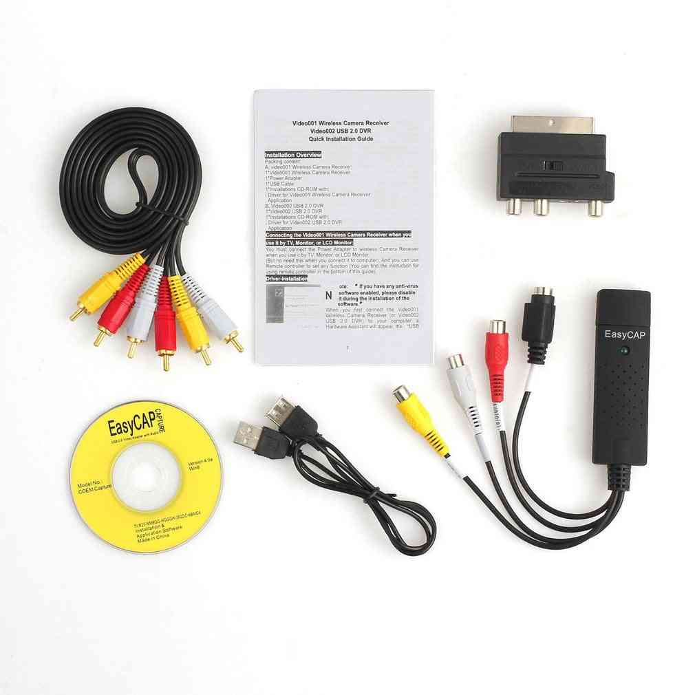 Professional Usb2.0 Vhs To Dvd Converter Audio Video Capture Kit Scart Rca Cable Kit Set Suitable For Win 10 ..