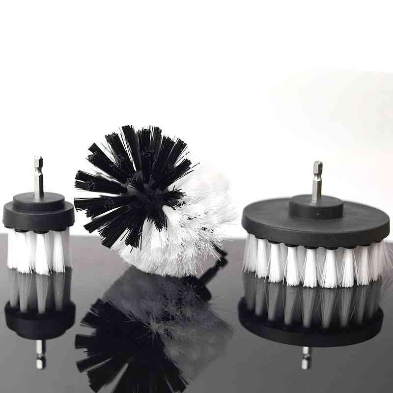 Electric Drill Brush Kit Plastic Round Cleaning Brush