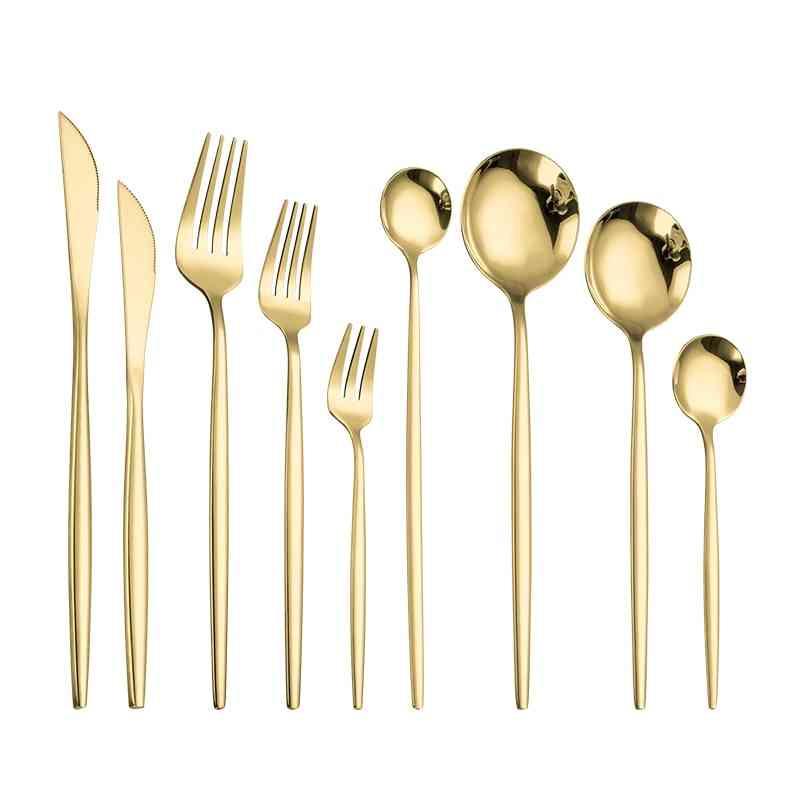 Dinnerware Gold Cutlery Set