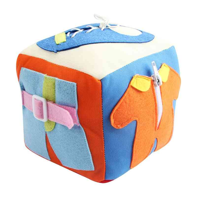 Soft Building Blocks Dice, Rattle Teether Montessori