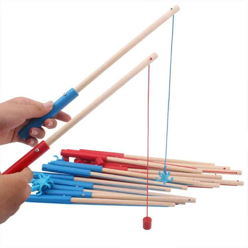 High-quality Wooden Magnetic Fishing Rod