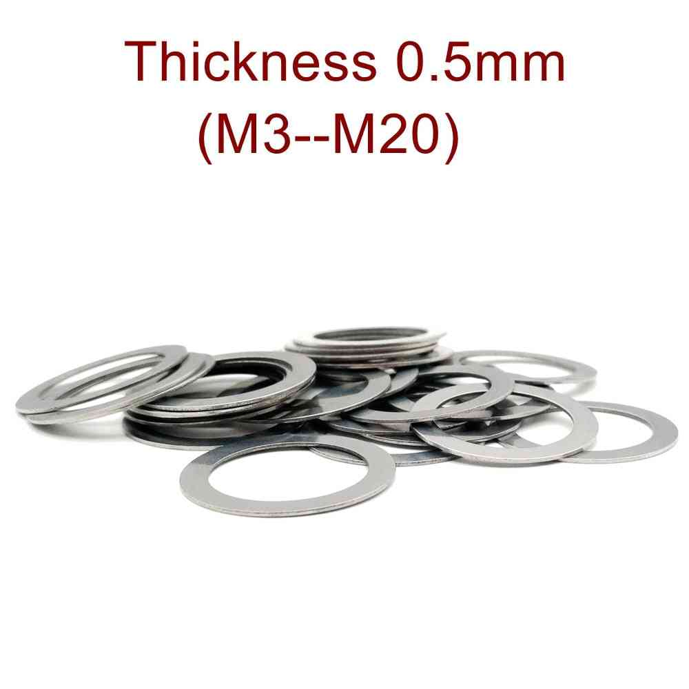 Thickness 0.5mm M3-m20 Stainless Steel Flat Washer