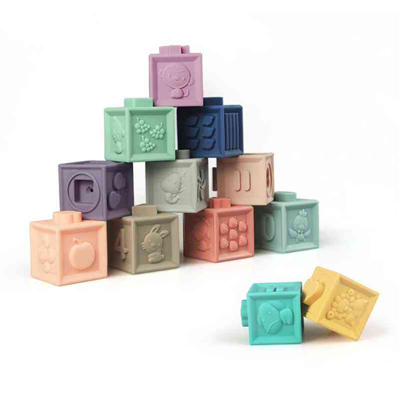 Baby Grasp Toy Silicone Kids Building Blocks