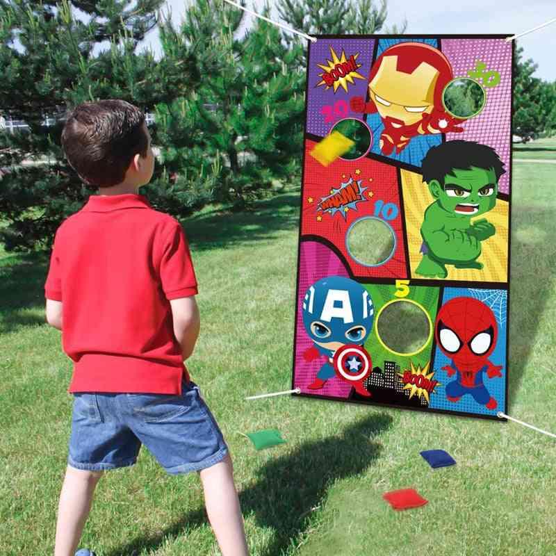 Superhero Toss Games With 4 Bean Bags