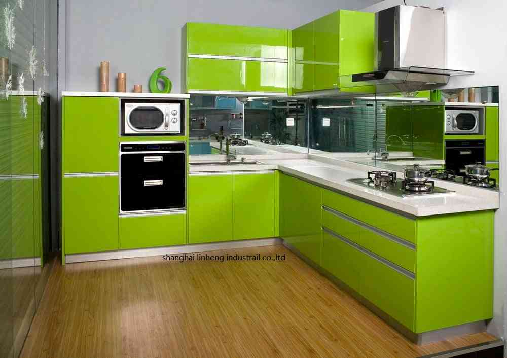 High Gloss/lacquer Kitchen Cabinet And Assessories