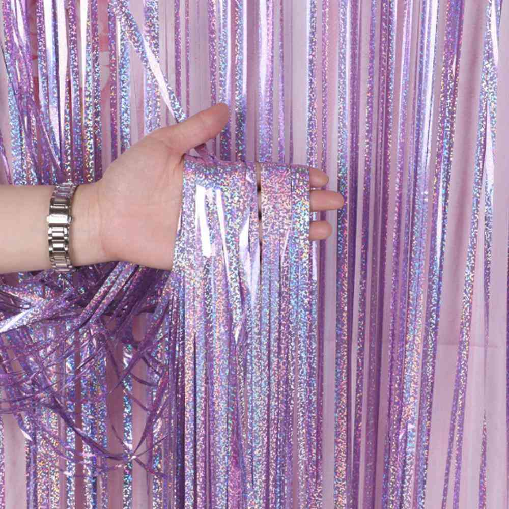 Foil Tinsel Fringe Door Curtain, Wedding Decoration Bride