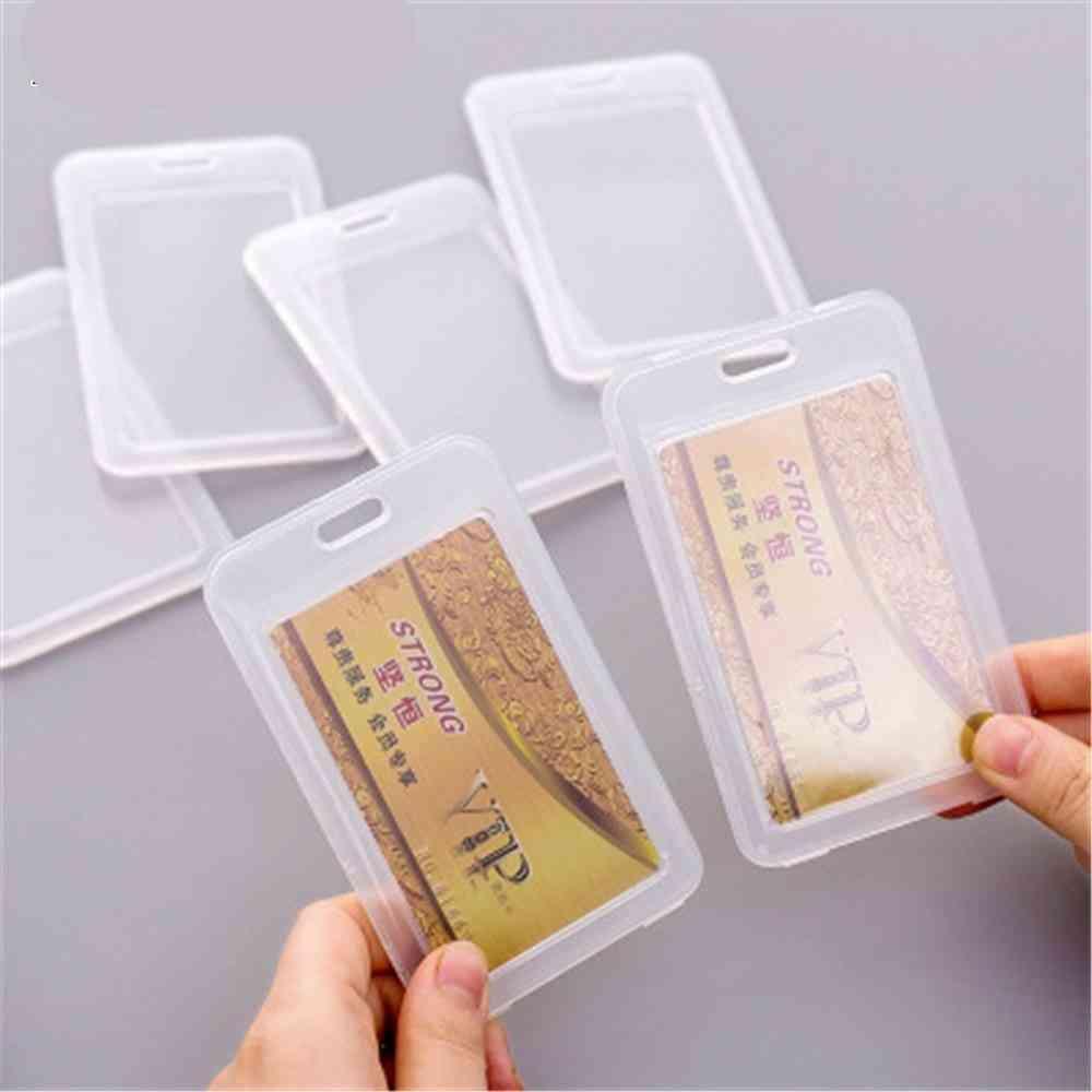 Dustproof Transparent High Quality Durable Pvc Id Card Holder..