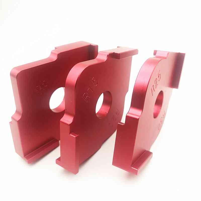 Woodworking Trimming Radius Jig Router Templates Aluminium Alloy Radius Corners R5 R10 R15 R20 R25 R30 R35 R40 T10-t15 T20-t25