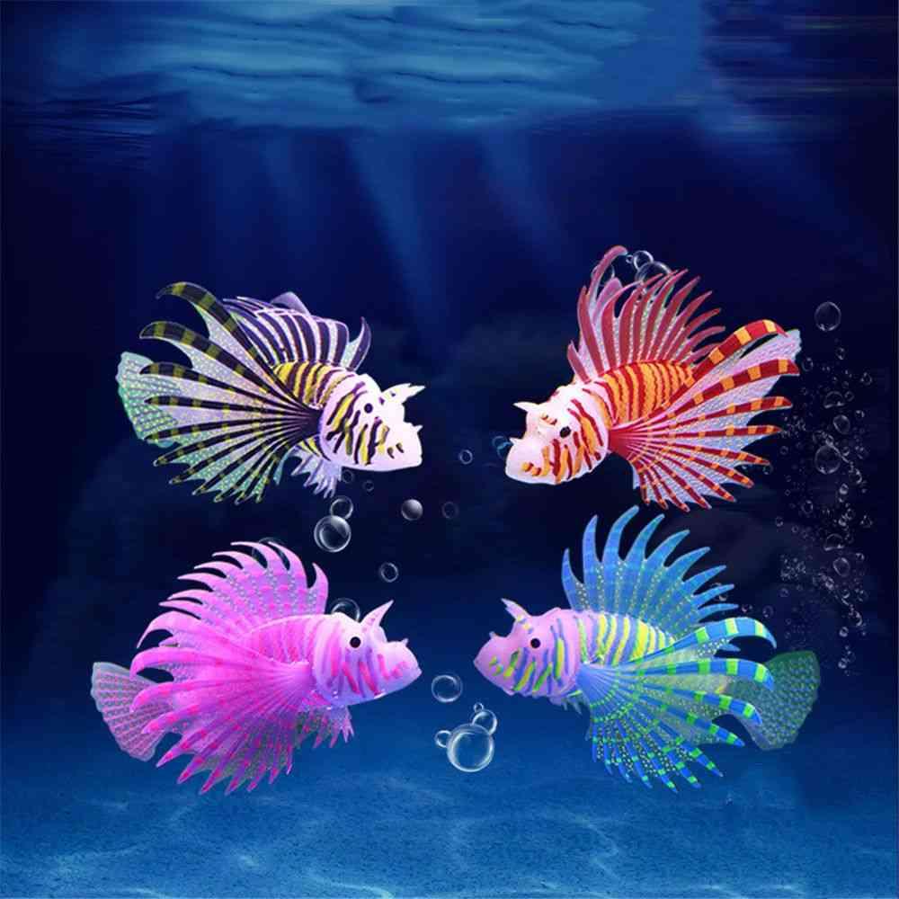 Aquarium Artificial Luminous Lionfish Fish Tank