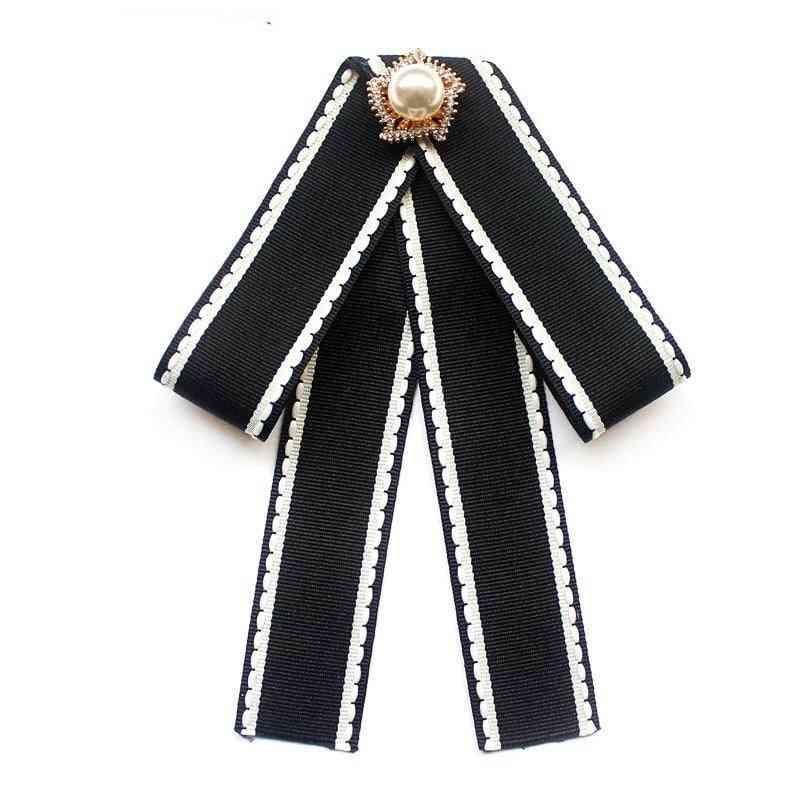 Ribbon Ties, Crystal Pearls Bow Tie