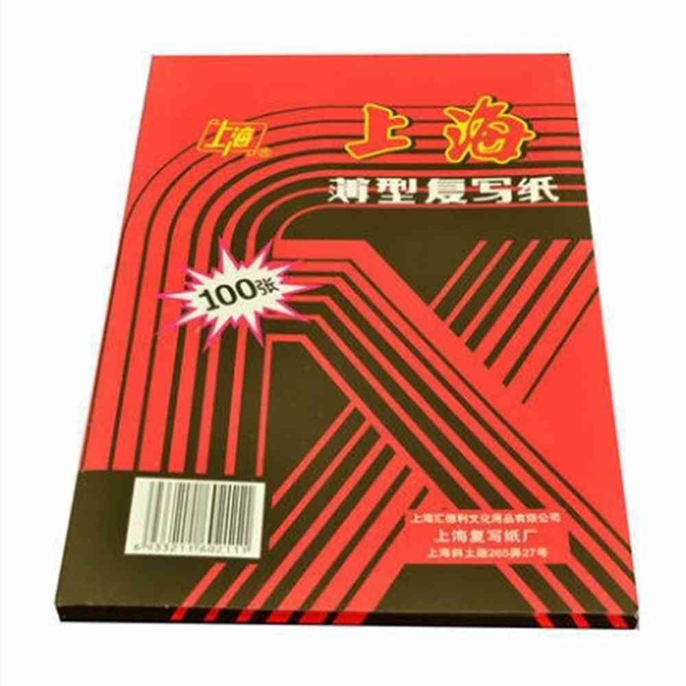 Red Carbon Stencil Transfer Paper, Double Sided, Hand Pro Copier Tracing, Hectograph