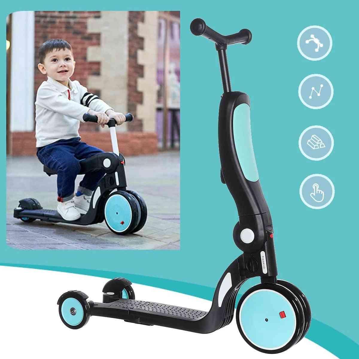 Children 3 Wheel Folding Infant Shining Scooter