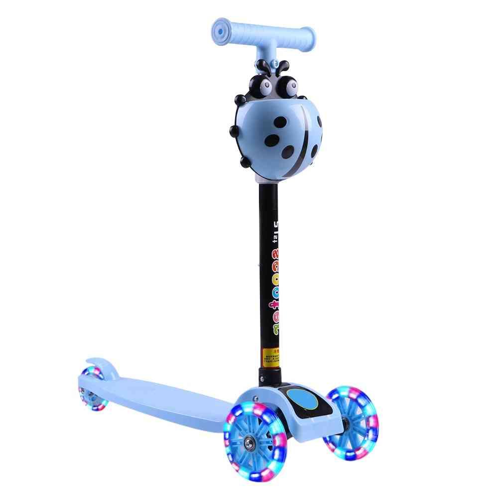 Kids Led Wheel Adjustable Balance Riding Scooter