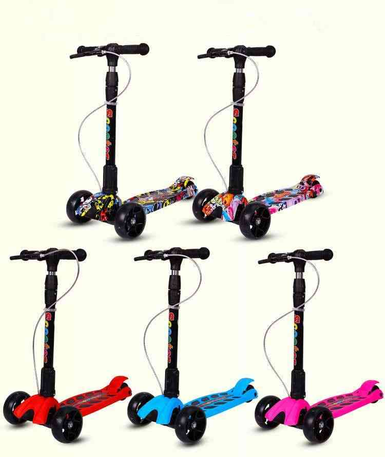 Child Foldable Flash Roller Scooter