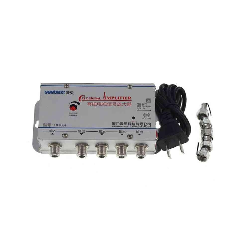 Catv Cable Tv Splitter Amplifier Signal Booster Home Tv