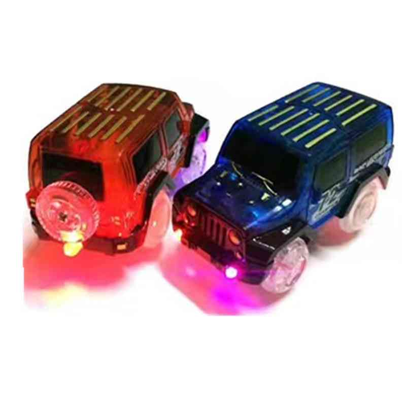 Led Light Up Cars For Glow Race Track Electronic Car Toy
