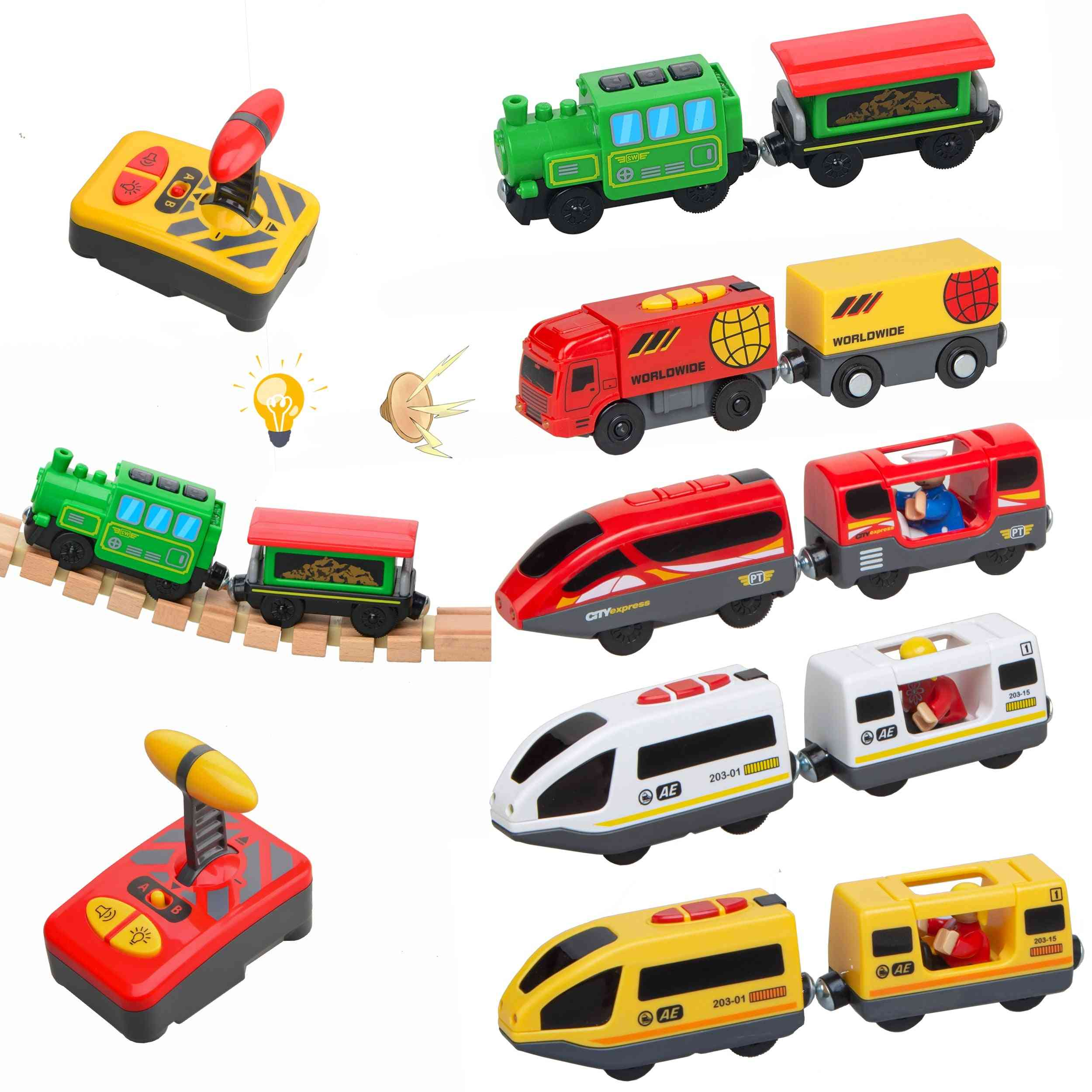 Remote Control Electric Train Toy Set