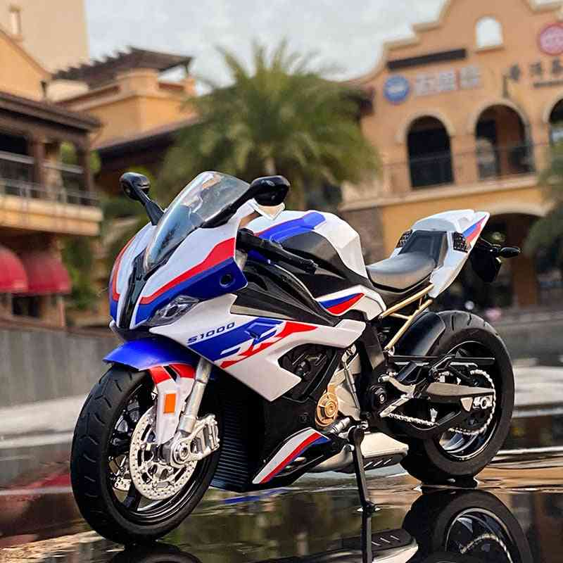 Alloy Motorcycle Model With Sound And Light Collection Toy