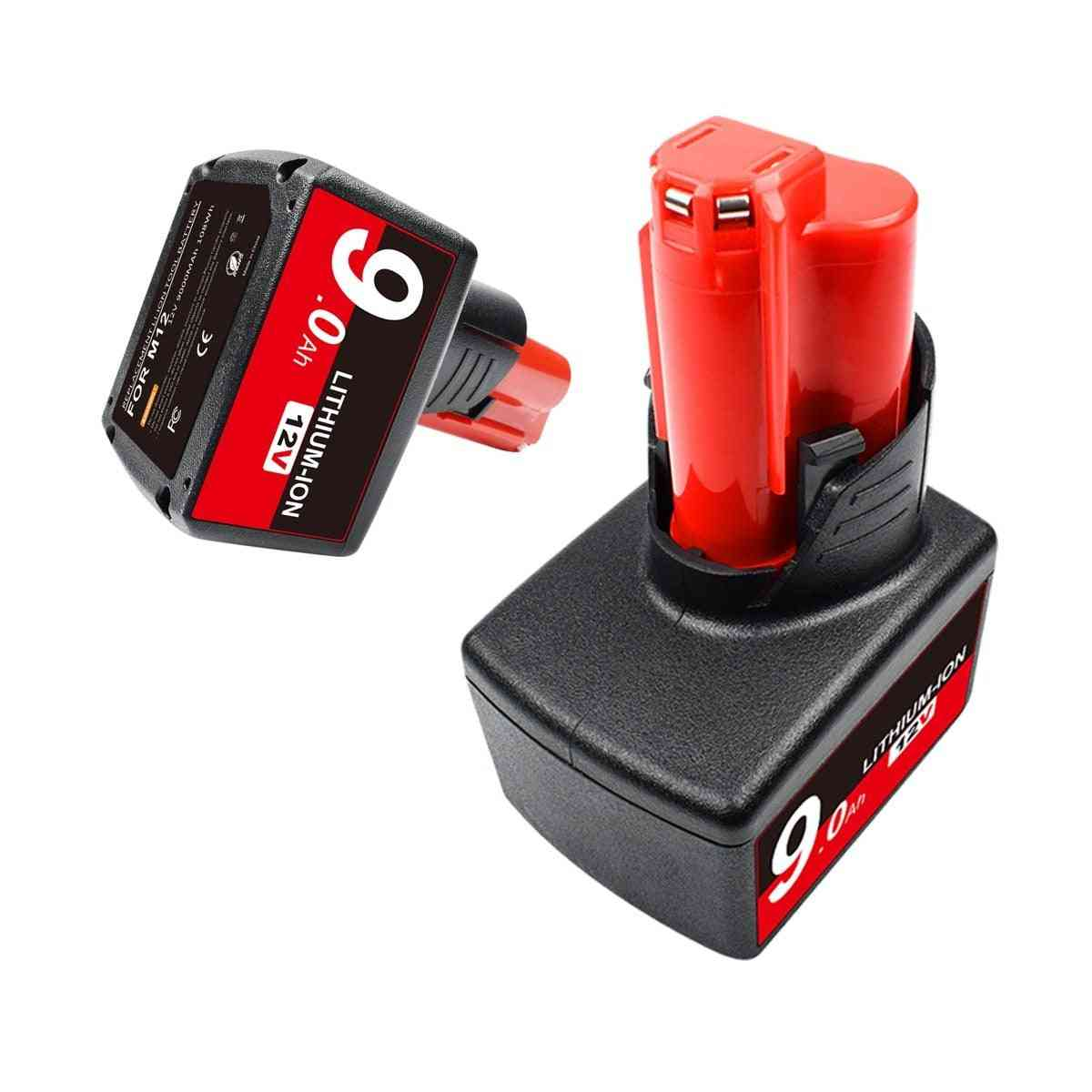 Lithium-ion Replacement M12 Battery For Milwaukee Batteries Power Tool