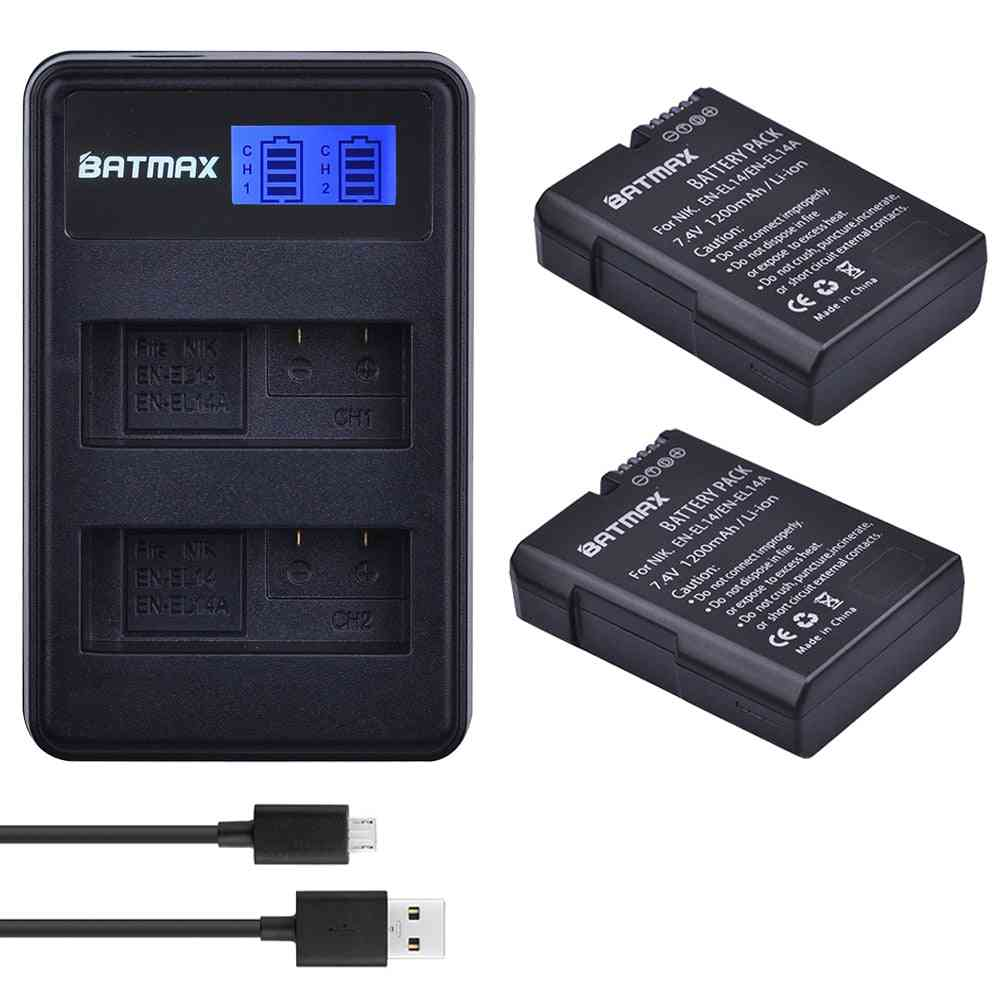 Battery Lcd Usb Dual Charger For Nikon