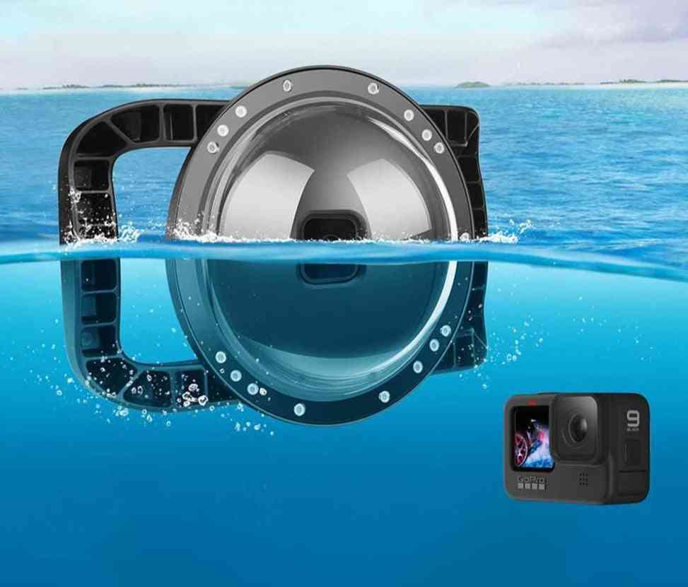Gopro Diving Dome Port Dual Handle, Waterproof Case Lens Cover