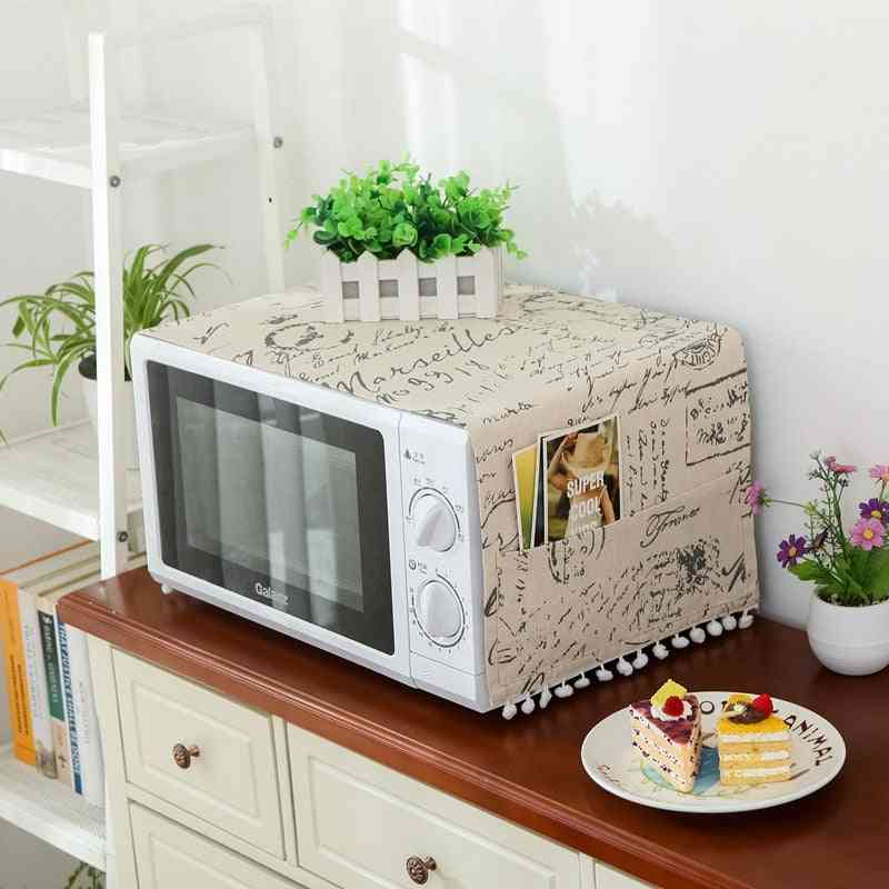 Microwave Oven Hood Oil Dust Cover With Storage Bag