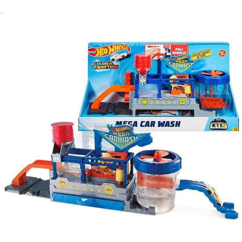 Hot Wheels Car Track City Mega Car Wash Station,  Educational Toy