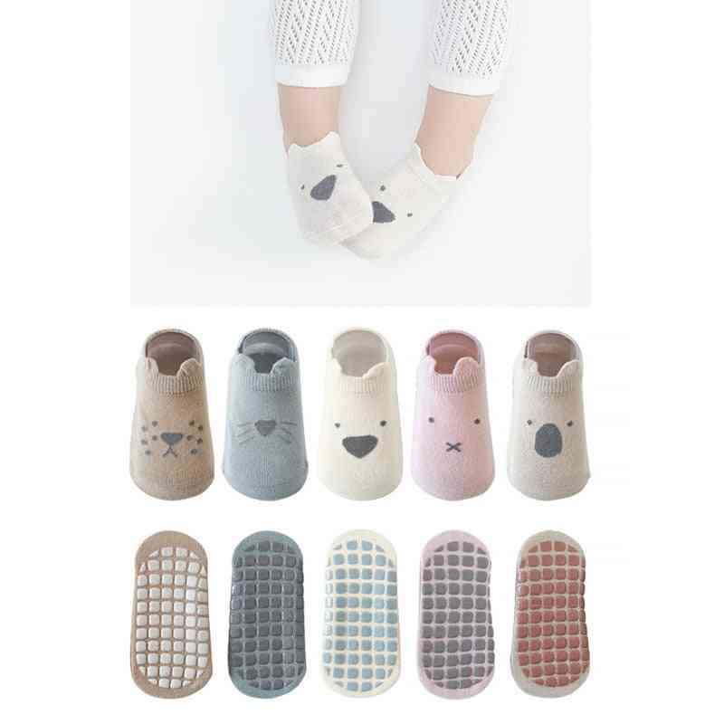 Cotton Anti-slip Boat Socks With Rubber Grips