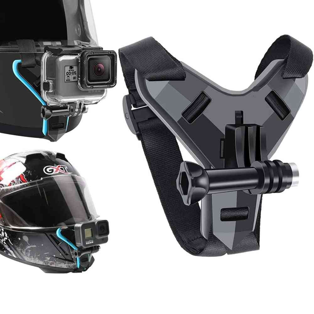 Helmet Strap Mount For Gopro Hero 9 8 7 6 5 4 3 Motorcycle Yi Action Sports Camera
