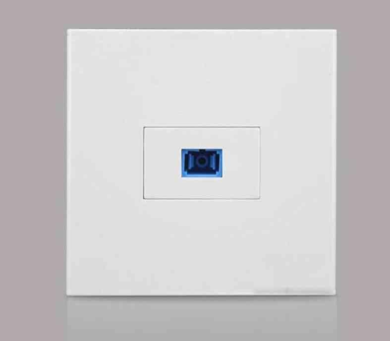 White Panel One Port Sc Optical Fiber Wall Panel Socket