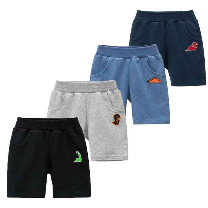Kids Short Pants Summer New Fashion Baby Cartoon Dinosaur Elastic